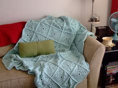 Granny squares always make me hate my life, but I do like the way a solid colored granny square blanket looks.