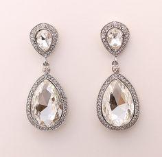 Wedding Earrings Bridal Jewelry Crystal Earrings by annasinclair, $54.00