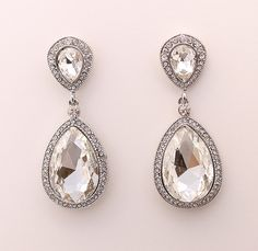 Wedding Earrings Bridal Jewelry Crystal Earrings by annasinclair, $54.00