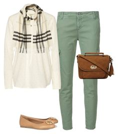 """""""Feliz Jueves!!"""" by liz-chirinos-godoy on Polyvore featuring AG Adriano Goldschmied, Current/Elliott, Burberry, Tory Burch and Dorothy Perkins"""