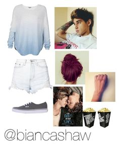 """""""Tfios with Luke"""" by biancashaw ❤ liked on Polyvore featuring Vince, Glamorous, Vans and Monday"""