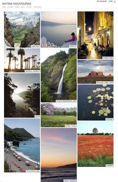 Wonderful travel photography - My site's homepage by Katina Houvouras