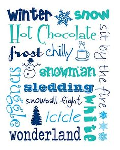 printable winter subway art