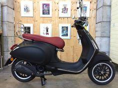 Vespa Primavera Custom - Matt Black   Scooterspot - Scooterspot Amsterdam