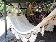 Nicaraguan hammock. Beautiful!
