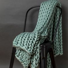 Your Lifestyle by Donna Sharp Chunky Knit Throw - Overstock - 21529411 Cotton Throws, Knitted Blankets, Merino Wool Blanket, Throw Blankets, Vogue Knitting, Arm Knitting, Most Comfortable Sheets, Chunky Knit Throw Blanket, Aqua