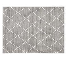 Jute Lattice Rug - Gray- 8'×10' or 9'×12'