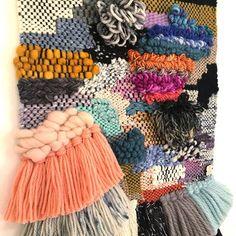 A mish mash of colour and texture in this piece! . . . #midnightweaveco #weave #weaving #weavingaustralia #weaversofinstagram #weaverfever #tapestry #warpandweft #handmade #handwoven #handdyedyarn #handspunyarn #makersgonnamake #australianmade #yarnaddict #yarn #yarnlove #wool #woolcraft #etsyseller #etsyaustralia #etsyauseller #wovenwallhanging #offtheloom #modernwovenart #wallart #shopsmall