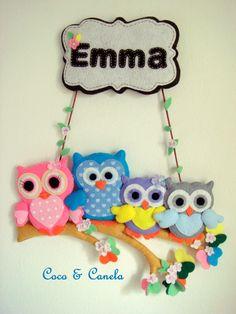 Name Banner. Owl family