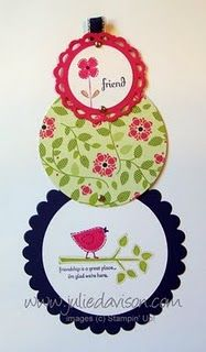 Stampin' Up Telescope card with Best of Everything stamp set.  (love the little bird..) :D