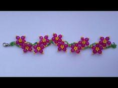 "Браслет из бисера ""Подснежник""/Bracelet from beads ""Snowdrop"" - YouTube"