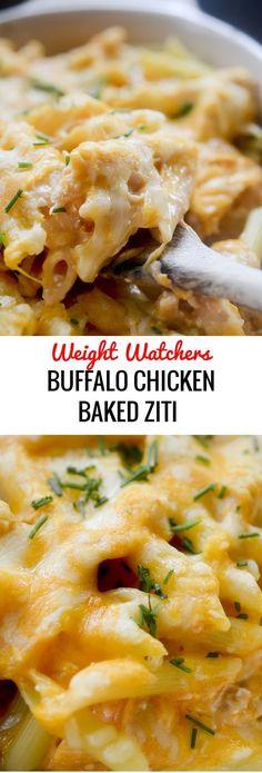 Buffalo Chicken Baked Ziti