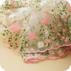 Items similar to Lace Fabric Organza Pink Flower Embroidery Wedding Fabric width by yard on Etsy Embroidery Designs, Rose Embroidery, Embroidery Fabric, Embroidery Patches, Vintage Embroidery, Wedding Embroidery, Embroidered Lace Fabric, Jacquard Fabric, Cotton Fabric