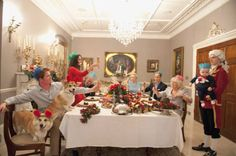 BEST QUALITY AVAILABLE Undated handout photo issued by Shloer taken by photographer Alison Jackson of 'lookie likies' playing the roles of members of the Royal family depicting how Prince George's first Christmas might look. PRESS ASSOCIATION Photo. Issue date: Thursday December 12, 2013. Photo credit should read: Alison Jackson/PA Wire NOTE TO EDITORS: This handout photo may only be used in for editorial reporting purposes for the contemporaneous illustration of events, things or the…
