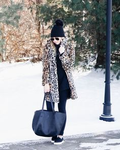 Dressing down leopard fur with my favorite everyday leggings and kicks! If youre in the market for some faux fur leopard I linked a bunch of options in this post and most of them are on sale - just head over to the Shop My Instagram page at http://ift.tt/2oG8bDr (link in bio) | http://liketk.it/2uaB1 @liketoknow.it #liketkit