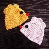 Very easy free crochet pattern for the chicken hat will help you to make this easter hat fast.