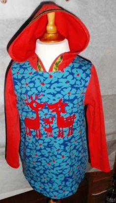 Shirt mit Kapuze Gr. 110/116