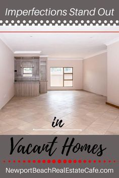 imperfections stand out in a vacant home Real Estate Articles, Real Estate Tips, Virtual Staging, Home Staging, Stucco Walls, Home Selling Tips, Model Homes, Estate Homes, Real Estate Marketing