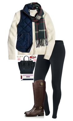 """NEW VIDEO // FALL HAUL"" by sperry-topsider ❤ liked on Polyvore featuring NIKE, Tory Burch, CÉLINE, J.Crew, Eos, Essie, Forever 21, Lord & Taylor and Vineyard Vines"