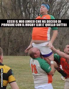 Ricorderà il suo esordio per sempre! :D http://www.vignetteitaliane.it #vignette #immagini #divertenti #italiano #lol #funny #pictures #italian #rugby