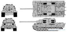 JagTiger Blueprints Military Drawings, War Thunder, Tiger Tank, Model Tanks, Blue Prints, 3d Modeling, Technical Drawing, Panzer, Division