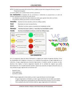 Documento de apoyo de colorimetria Color Correction Hair, Colorista, Formulas, Academia, Colored Hair Streaks, Hair Color Formulas, Hair Color Techniques, Hair Type, Hair Coloring