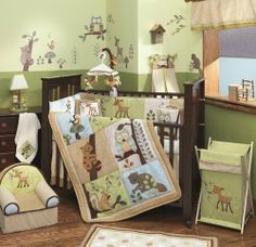@Jordan Bromley Sacco >This makes me think of you a little bit.  Lambs & Ivy Enchanted Forest room