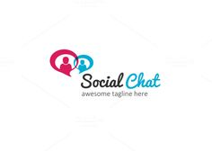 Social Chat Logo by XpertgraphicD on Creative Market