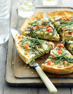 Zilte quiche met zeekraal http://www.njam.tv/recepten/zilte-quiche-met-zeekraal