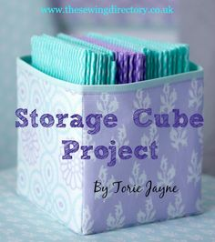 Fabric Storage Cube Project from Stylish Home Sewing