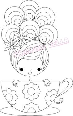 Stamping Bella - Tilly the teacup girl