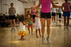 """Mommy Bootie Camp"" is a kid-friendly interval training class, in Kensington…"