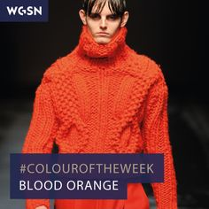 Our #colouroftheweek is Blood Orange, as seen on the Topman catwalk at A/W 14/15 Men's London Fashion Week. This confirms Pantone 17-1462 from the WGSN A/W 14/15 Global Colour Direction.  WGSN guides global and cultural colour direction. Our team of experts identify, analyse and predict key colours that will drive and influence the commercially successful products and services of the future.
