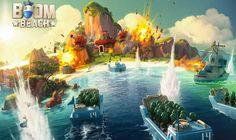 Boom Beach é um jogo de estratégia onde o jogador controla uma base militar que serve para defender e invadir ilhas próximas.