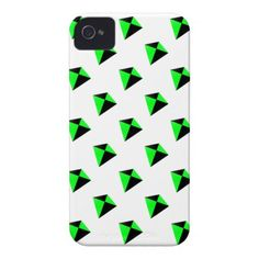 Green and Black Diamond Shaped Kites Pattern Case-Mate iPhone 4 Cases