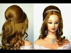 Wedding prom hairstyle for medium long hair. - YouTube