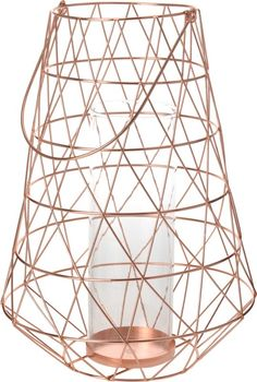 LAMPION-DRUT MIEDZIANY DUŻY Candle Holders, Candles, Home, Ad Home, Porta Velas, Candy, Homes, Candle Sticks, Haus