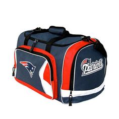 New England Patriots Navy Flyby Duffle Bag