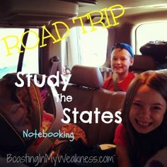 Study the States - Road Trip Notebook