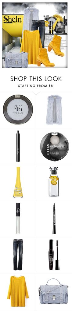 """""""Yellow Sweater with SheIn"""" by struga-art-80 ❤ liked on Polyvore featuring Urban Decay, Topshop, River Island, NARS Cosmetics, Bourjois, Eva Solo, LTB by Little Big, Proenza Schouler, Guidi and StreetStyle"""
