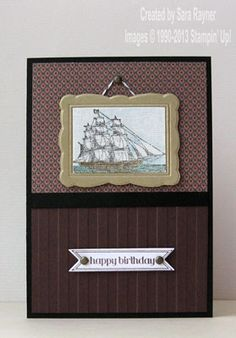 Canvas painting card - Stampin' Up!