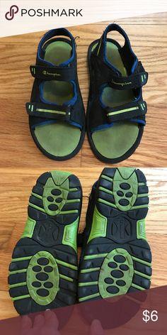 7b52dbc5e9147 Boys slide sandals. Size 13 1. VGUC