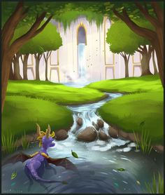 Been playing with this off and on for a while. It's been an eternity and a half since I made art for Spyro and I was feeling nostalgic. :> Summer Forest is pretty special to me. Spyro 2 was in t...