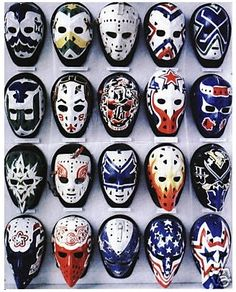 Vintage goalie masks