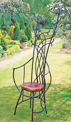 Original furniture designs in forged wrought iron, bright steel, copper and other media.