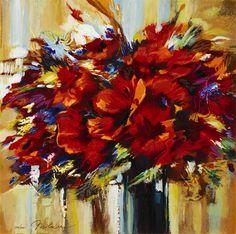 Flowers in a Vase (2007) by Michael Milkin  www.parkwestgallery.com #art #michaelmilkin #parkwestgallery #marsala