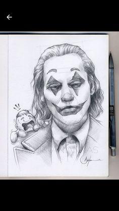 Hipster Drawings, Cool Art Drawings, Art Drawings Sketches, Batman Comic Art, Joker Art, Joker Batman, Gotham Batman, Batman Robin, Joker Sketch