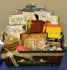 Christian Gift Basket, Made this for a Friend :-)