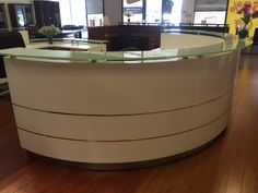 Custom Reception Station http://vaughanofficefurniture.com Call us for great deals!📞 905-669-0112