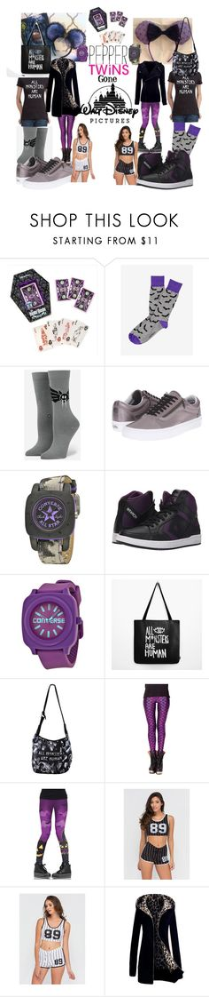 """""""Twins Seen scaring"""" by lerp ❤ liked on Polyvore featuring Disney, Express, Stance, Vans, Converse, Leg Avenue and Katie"""
